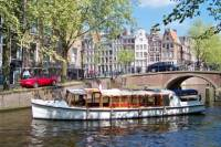 Amsterdam Salon Boat Sightseeing Cruise with Sparkling Wine