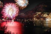Assumption of Mary Celebration Day, Positano Dinner and Fireworks Boat Tour from Sorrento