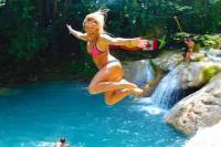 Blue Hole and Secret Falls Day Trip plus Shopping from Montego Bay and Grand Palladium