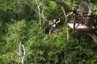 Cancun Adventure Tour at Selvatica: Zipline, Aerial Bridge, ATV, Bungee Swing and Cenote Swim