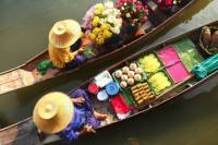 Damnern Saduak Floating Market Tour with Grand Palace and Wat Phra Keo from Bangkok
