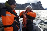 Deep Sea Fishing on an Open Boat from Nuuk
