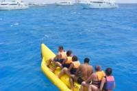Glass-Bottom Boat, Snorkeling and Banana Boat Day Trip from Hurghada