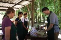 Hands-on Thai Cooking Class in the garden