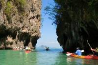 Hong Island Tour by Longtail Boat with Snorkeling and Kayaking