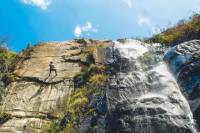 Huanano Falls Trekking and Rappelling Adventure from Lima
