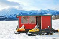 Ice Fishing from Whitehorse
