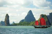 June Bahtra: Full Day Lunch Cruise Phang Nga Bay by Chinese Junk Boat