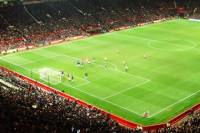 Manchester United Football Match at Old Trafford Stadium