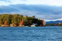 New Hampshire Train Along Lake Winnipesaukee