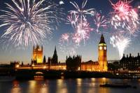 New Year's Eve River Dinner Cruise and Fireworks Display in London