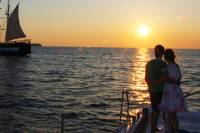 Ocean Voyager 74 Santorini Sailing Sunset Tour