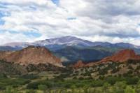 Pikes Peak, Garden of the Gods and Air Force Academy from Denver