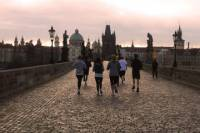 Prague to Karlstejn Castle Running Tour, 48-Hour Prague Hop-on Hop-off Bus Pass And Private Round-Trip Transfer