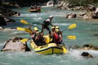 Rafting in Soca River