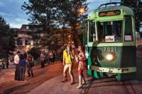 Rome Sightseeing by Antique Tram Including Wine