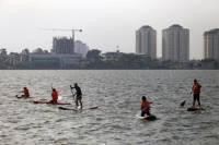 Stand-Up Paddling in Hanoi's West Lake