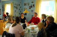 Traditional Kaffe-mik in a locals home in Nuuk