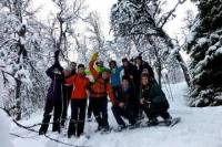 Tromso Winter Adventure: Northern Lights Viewing, Snowshoeing, Tobogganing and Cross-Country Skiing