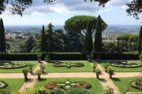 Vatican Museums and Barberini Gardens at Castel Gandolfo from the Pope private Station