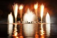 Versailles Night Fountain Show and Fireworks from Paris
