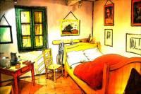 Vincent Van Gogh 'The Bedroom' Exposition in Amsterdam
