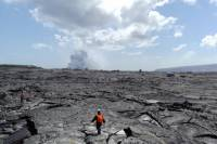 Volcanoes National Park and Waterfall Red Lava Glow Viewing Tour from Hilo