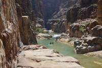 Wadi Mujib Siq Trail from the Dead Sea