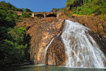 2-Day Private Tour from Goa: Jungle Adventure in Mollem National Park Including Dudhsagar Falls and Jeep Safari