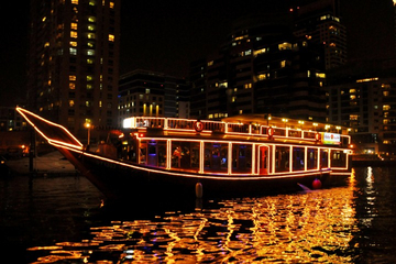 2-Hour Dhow Dinner Cruise along Dubai Creek