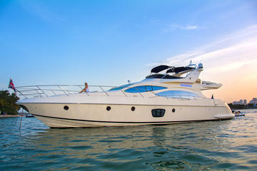 4 Hour Private Charter On A 68' Azimut Fly Bridge Luxury Yacht With Free Jet Ski