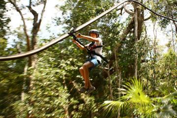 4-in-1 Tulum Adventure: Zipline, Cavern Rappel, Cave Snorkel and Skycycle