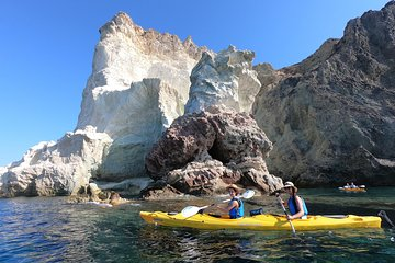 Small-Group 5-Hours Santorini Caves Kayak Trip with Snorkeling