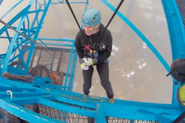Abseil from the Tees Transporter Bridge