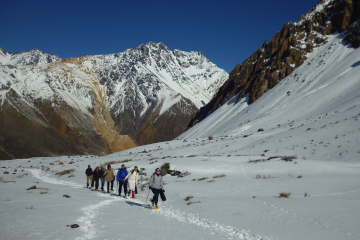Andes Mountains Snowshoe Hiking Tour from Santiago