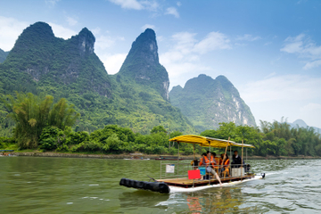 Bamboo Raft on Li River and Ancient Village Day Trip from Guilin