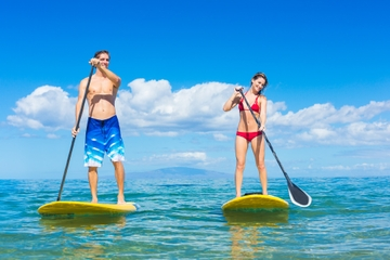 Barbados Stand-Up Paddleboard Rental with Lesson