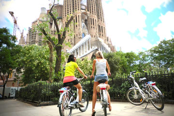 Barcelona 3-Hour Combined Walking and Electric Bike Tour