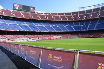 Barcelona Camp Nou Football Stadium Tour from Costa Brava with Optional Montjuic Fountains Light Show