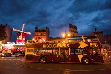 Big Bus Paris Night Tour with Optional Cruise and Hop-on Hop-off Day Pass