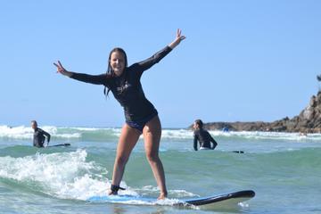 Byron Bay Combo: Minyon Falls and Hinterland Day Trip and Learn to Surf at Byron Bay