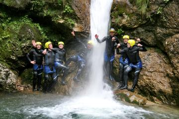 Canyoning in the Susec Canyon of the Soca valley