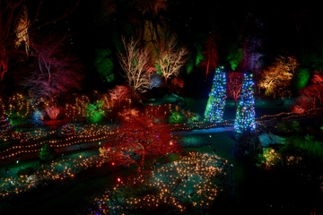 Christmas in Victoria: Holiday Lights Tour and Butchart Gardens Including Dinner