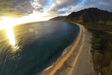 Doors-Off Helicopter Tour in Oahu: North Shore Sunset Ride