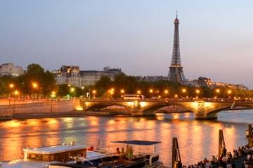Eiffel Tower Dinner and Seine River Cruise by Minivan