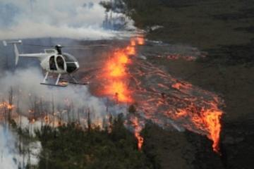 Fire and Falls Helicopter Adventure from Hilo