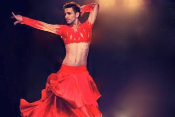 Fire of Gypsy Show Including Dancers at a Cihangir Venue
