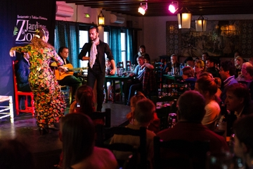 Flamenco show Granada at Jardines de Zoraya