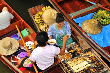 Floating Markets and Rose Garden Cultural Center Day Tour from Bangkok
