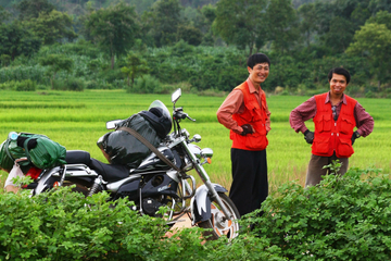 Full-Day Motorcycle Tour of Silk Village from Dalat